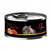 Alpha Spirit Comida Húmeda de buey y melón para gatos