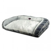Sofa Grey Plaid para perros
