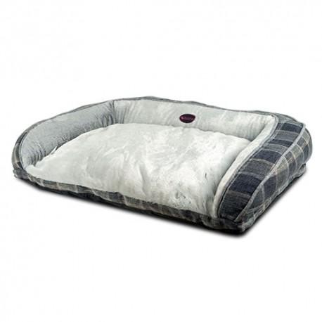 Sofa Grey Plaid para perros