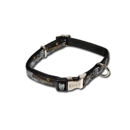 Collar para perros Envy negro de nylon y plástico