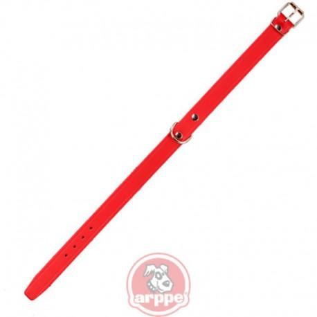 Collar de cuero Amazone en color rojo