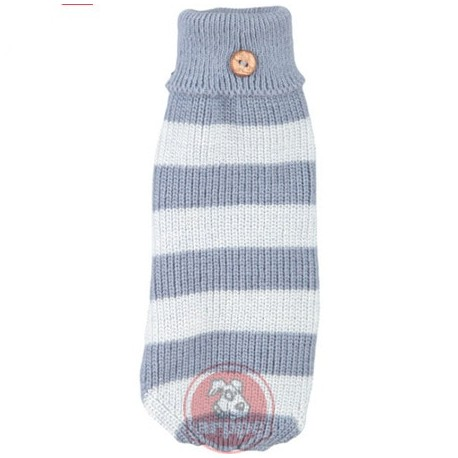 Jersey de calentita lana azul para perros