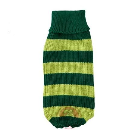 Jersey Vintage de rayas en color verde