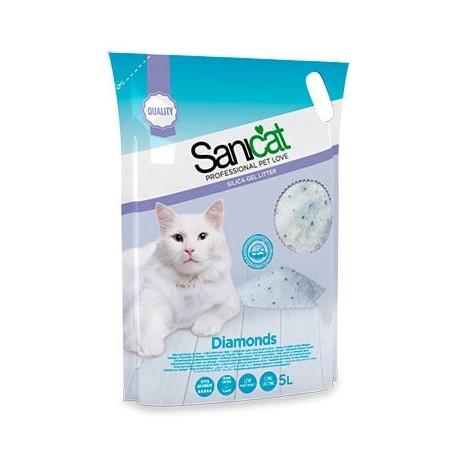 Sanicat Diamonds Fresh Arena de sílice para gatos