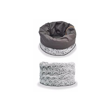 Cama envolvente para perros color gris claro