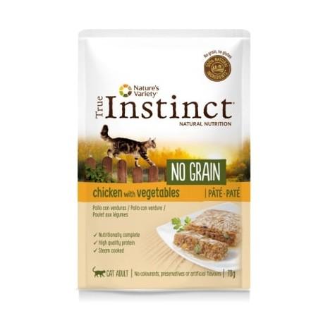 True Instinct No Grain Paté de pollo y verduras para gatos