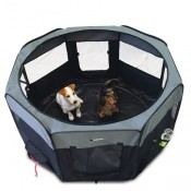 Parque plegable de loneta para perros Ibañez