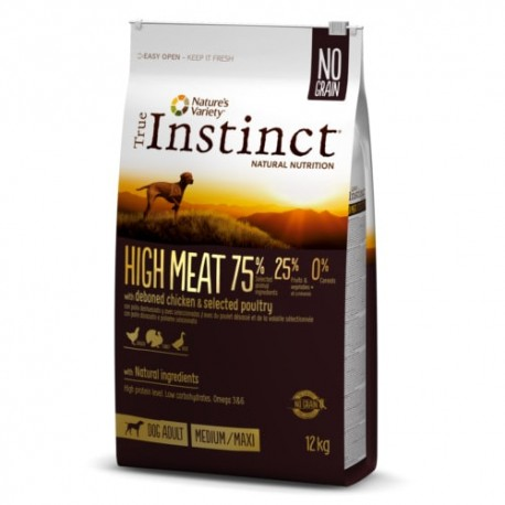 True Instinct High Meat Adult Pollo Medium Maxi pienso perro