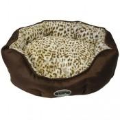 Cuna de tigre marrón para perros y gatos