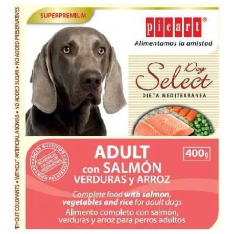 Picart Select Dog Adult comida húmeda de salmón y verduras