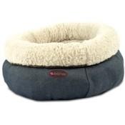 Cama donut jeans extra suave para perros y gatos