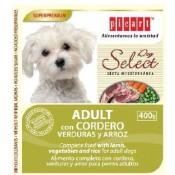 comida húmeda de cordero para perros adultos select dog
