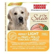 Alimento húmedo light para perros Select Dog Adult con pavo