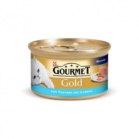 Gourmet mousse de pescado del oceano para gatos
