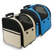 Bolso mochila con ruedas para perros y gatos