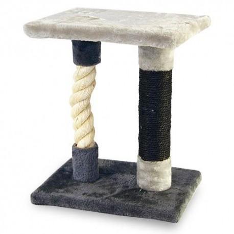 Rascador con cuerda gruesa de sisal