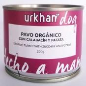 Urkhan Bio Latas de comida húmeda de pavo y calabacín