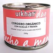 Urkhan Bio Latas de comida húmeda de cordero y acelga