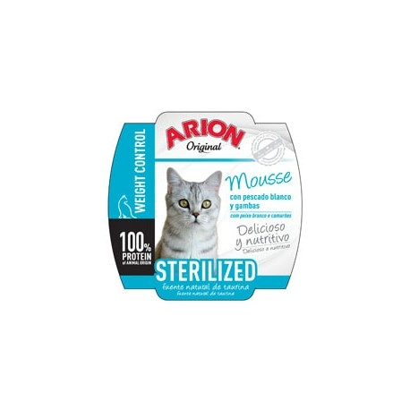 Arion Original wet sterelized mousse de pescados blancos para gatos