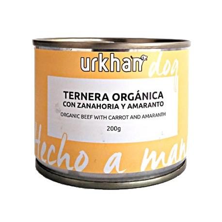 Urkhan Bio Latas de comida húmeda de ternera y zanahoria