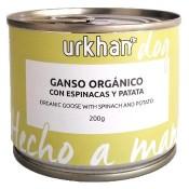 Urkham Bio Latas de comida húmeda de ganso y espinacas