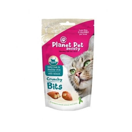 Bocaditos con salmón Skin & Coat para gatos Planet Pet Society