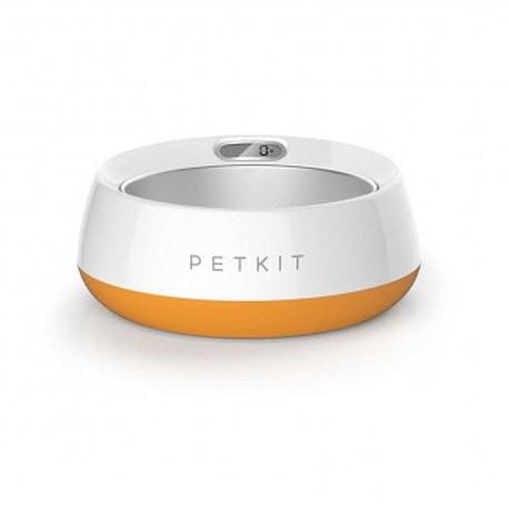 Comedero con báscula Petkit bol de metal con diseño naranja