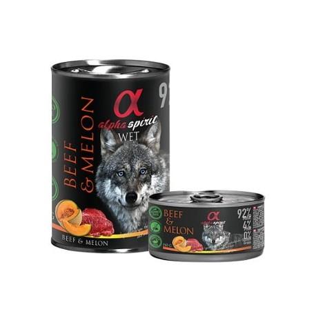 Alpha Spirit Comida húmeda de ternera con melón