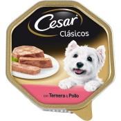 César Tarrina de paté de ternera y pollo para perros