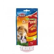 Snack Drops vitaminados de zanahoria para roedores