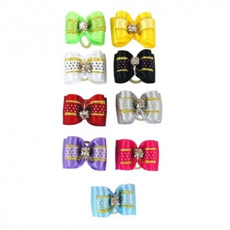 Detalle de formas y colores de lacitos Dobles Deluxe