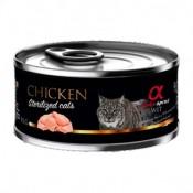 Alpha Spirit Comida Húmeda de pollo para gatos esterilizados