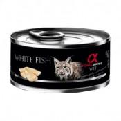 Alpha Spirit Comida Húmeda de pescado blanco para gatos