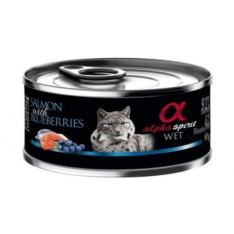 Alpha Spirit Comida Húmeda de Salmón y Arándanos para gatos