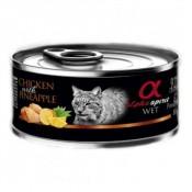 Alpha Spirit Comida Húmeda de pollo y piña para gatos