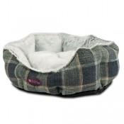Cama Grey Plaid para perros y gatos