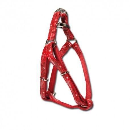 Arnés Envy de nylon y plástico en color rojo nayeco