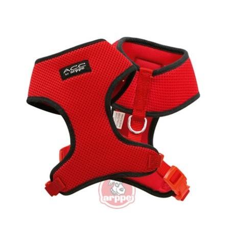 Conjunto de arnés y correa Casual Confort en color rojo