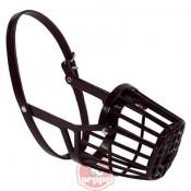 Bozal cesta de plástico negro para perros