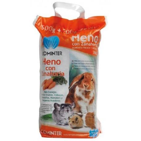 Heno con zanahoria y vitamina C para roedores cominter
