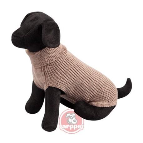 Jersey new basic de lana marrón