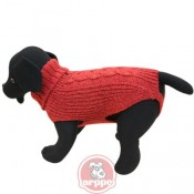 Jersey Cordelux de lana roja para perros