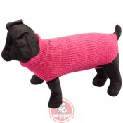 Jersey liso Sander de lana fucsia