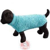 Jersey de lana azul para perros