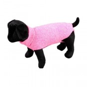 Jersey para perros de punto color rosa