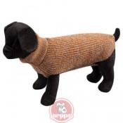 Jersey de lana marrón para perros