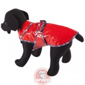Impermeable de color rojo para perros