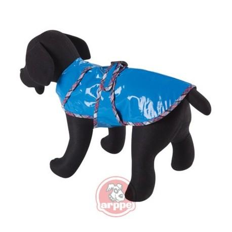 Impermeable para perros de color azul arppe