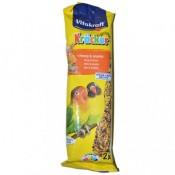 Snacks en 2 barritas de miel y sésamo para agapornis Vitakraft