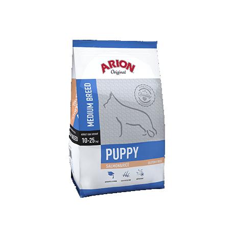 Arion original puppy medium de salmón y arroz